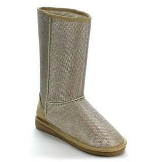 Coshare Women's Aling-47 Glitter Comfort Boots