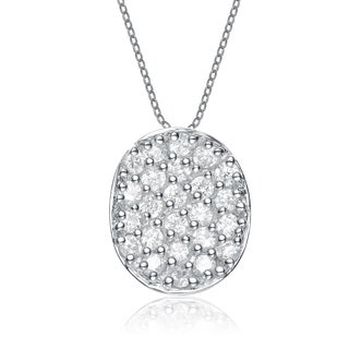 Collette Z Sterling Silver and White Cubic Zirconia Necklace