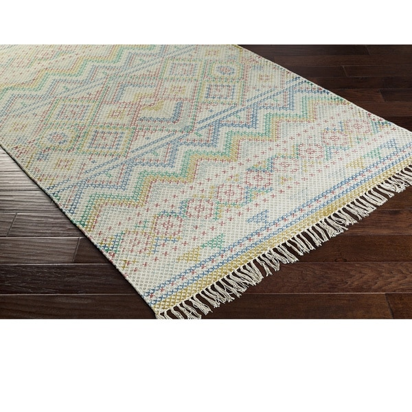 Hand Woven Marguerite Cotton Rug (8' x 10')