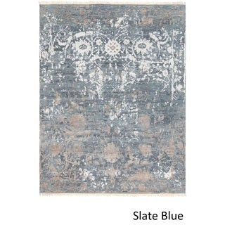 Hand Knotted Perkins Wool/Silk Rug (9' x 12')