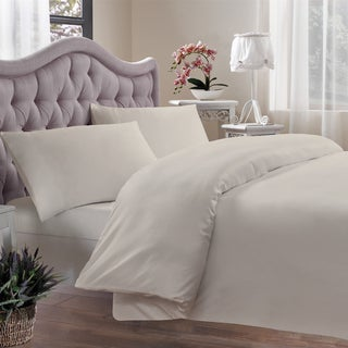 Brielle Egyptian Cotton 400 Thread Count Sateen Oversized Duvet Cover