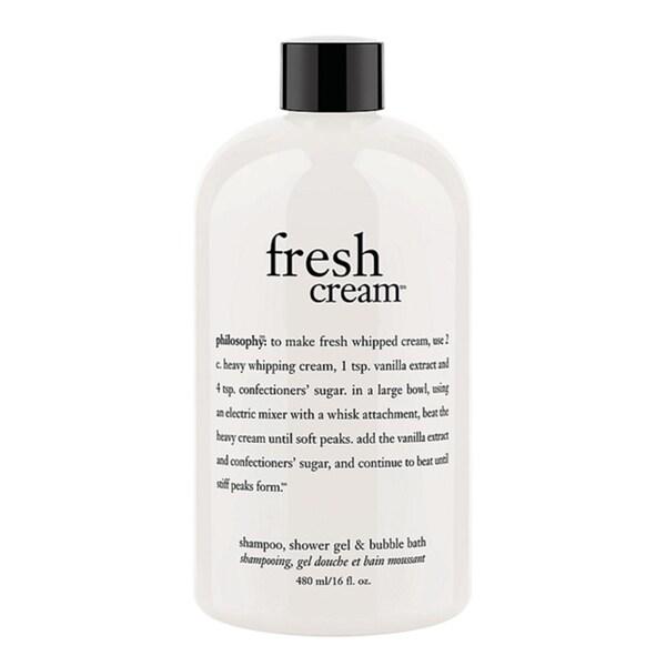 Philosophy Fresh Cream 16-ounce Shampoo, Shower Gel, and Bubble Bath