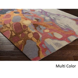 Robert Langford : Hand Knotted Pool Wool Rug (6' x 9')