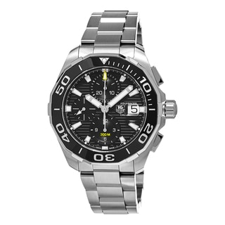 Tag Heuer Men's CAY211A.BA0927 '300 Aquaracer' Black Dial Stainless Steel Chronograph Swiss Automatic Watch