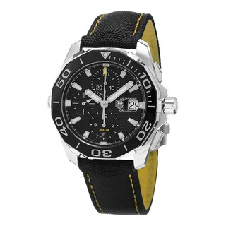 Tag Heuer Men's CAY211A.FC6361 '300 Aquaracer' Black Dial Black Fabric Strap Chronograph Swiss Automatic Watch