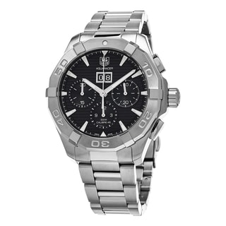 Tag Heuer Men's CAY211Z.BA0926 '300 Aquaracer' Black Dial Stainless Steel Chronograph Swiss Automatic Watch