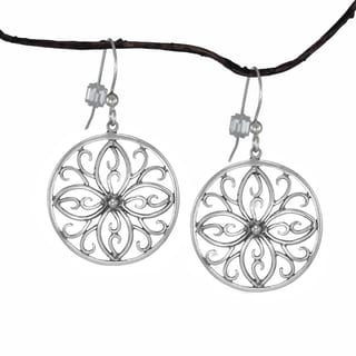 Jewelry by Dawn Round Scroll Medallion Sterling Silver Earrings