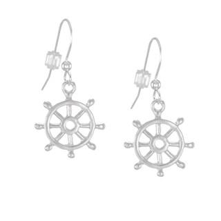 Jewelry by Dawn Small Ship Wheel Sterling Silver Earrings