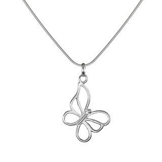 Jewelry by Dawn Butterfly Sterling Silver Snake Chain Necklace