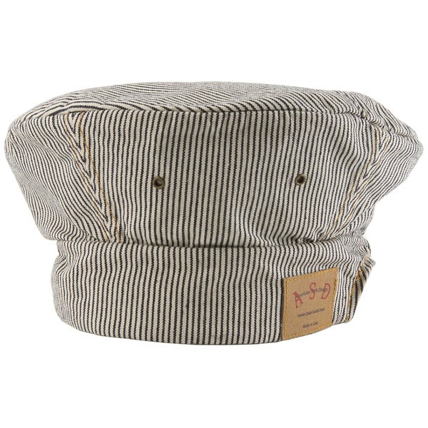 Railroad Stripe Denim Toque