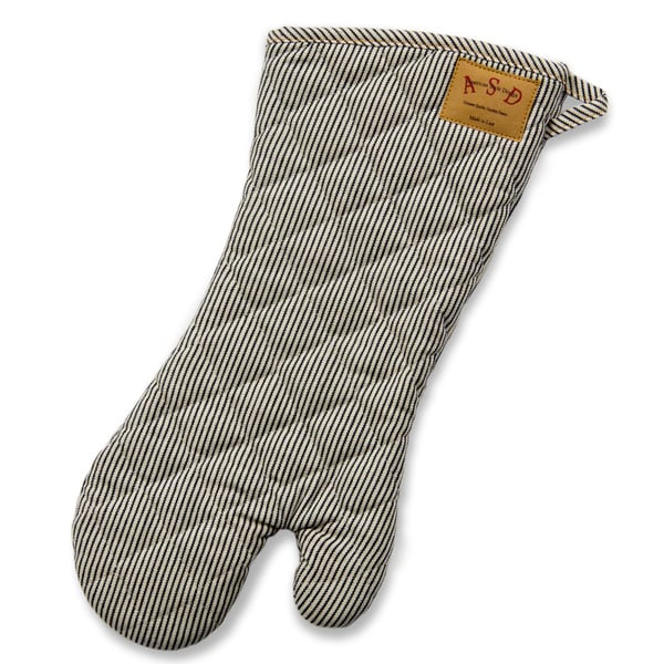 Railroad Stripe Denim BBQ Mitt