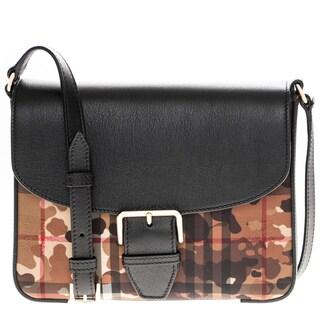Burberry Camouflage Horseferry Check Small Crossbody Handbag