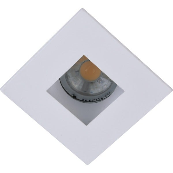 Elegant Lighting Elitco 3-Inch Matte White Square Aperture with Trim Ring