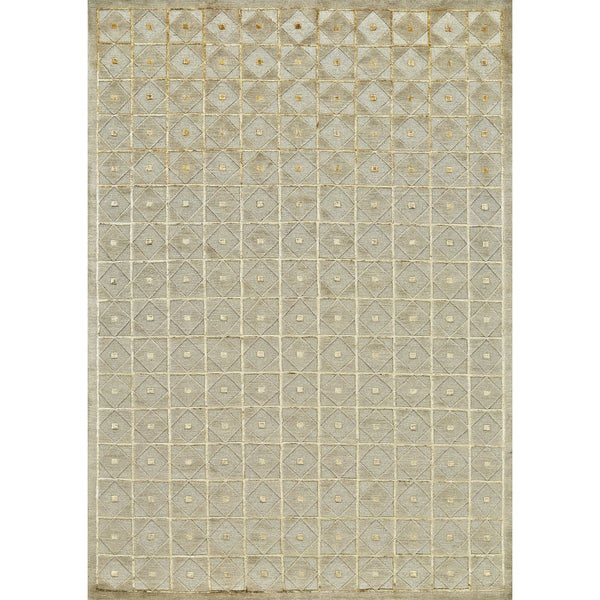 "Feizy Hand Knotted Wool & Silk Chadwick Rug In Almond 5'-6"" X 8'-6"""