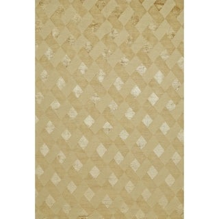 Grand Bazaar Hand-knotted Wool and Silk Chadwick Rug in Gold (7'9 x 9'9)