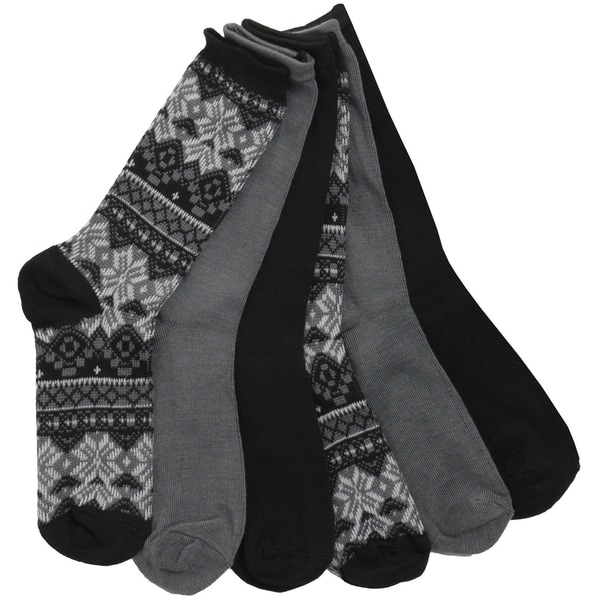 Joan Vass Women's Fairisle Socks (Pack of 6)