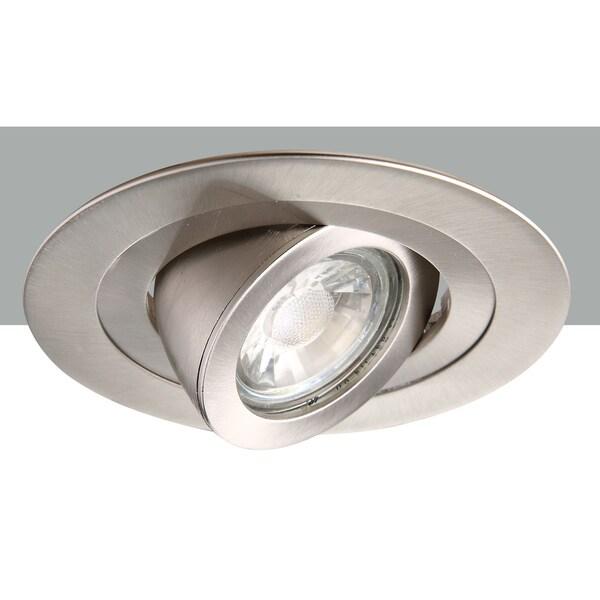 Elegant Lighting Elitco 4-Inch Brushed Nickel 35-Degree Adjustable Spotlight