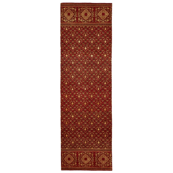 """Feizy Hand Knotted Wool & Art Silk Russell Rug In Red 2'-6"""" X 8'"""