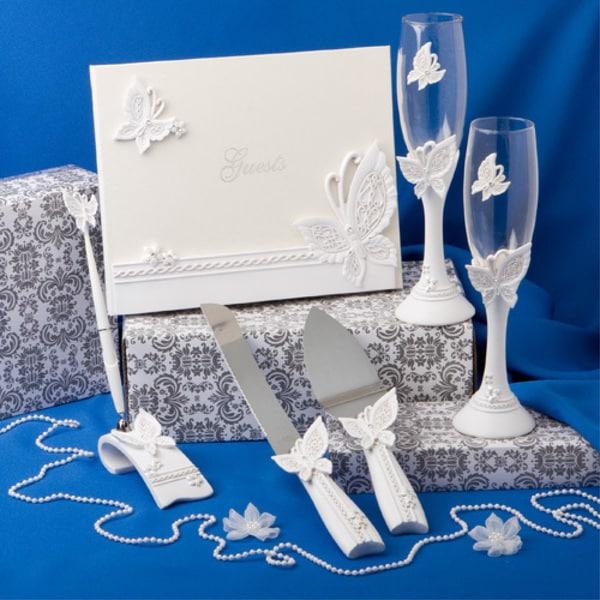 Fashioncraft Butterfly Theme Wedding Accessory Set