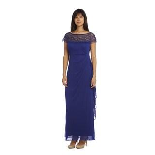 R & M Richards Women's Mesh Evening Gown