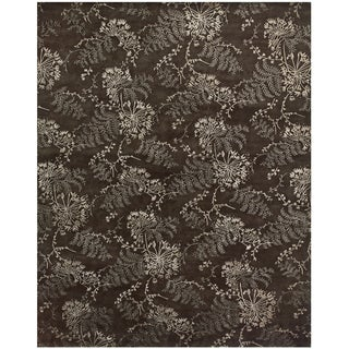 """Feizy Hand Knotted Wool & Viscose Dayuan Rug In Brown 8'-6"""" X 11'-6"""""""
