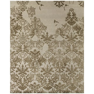"""Feizy Hand Knotted Wool/Silk/Cotton Kooshlame Rug In Beige 8'-6"""" X 11'-6"""""""