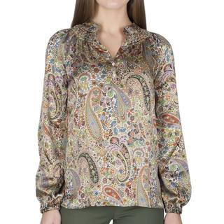 Robert Talbott Women's Long-Sleeve Silk Blouse
