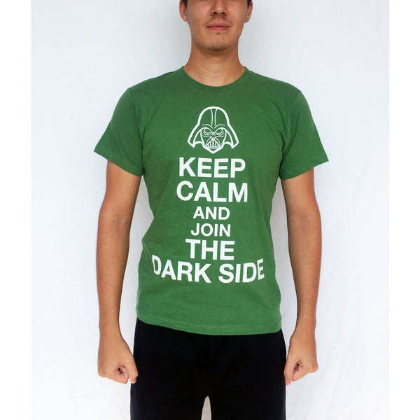 Men's Cotton 'Keep Calm and Join The Dark Side' T-shirt