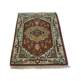 Wool Handmade Serapi Heriz Oriental Tribal Design Rug (2'1 x 3'1)