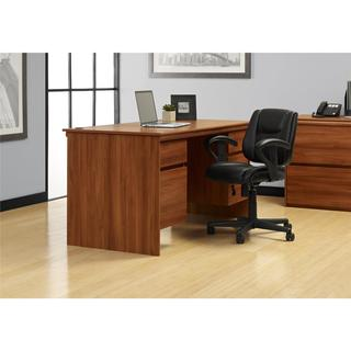 Altra Expert Plum Executive Desk with File Drawers