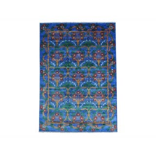 Silk from Bamboo Arts and Crafts Hand-knotted Oriental Rug (10' x 14')