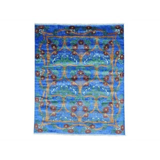 Silk from Bamboo Arts and Crafts Hand-knotted Oriental Rug (8' x 9'8)