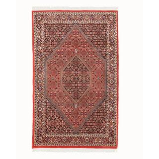 EORC Hand Knotted Wool Rust Bidjar Rug (3'8 x 6'1)