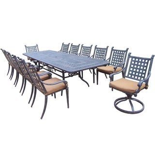 Sunbrella Aluminum 13-piece Dining Set with Stackable and Rocker Chairs