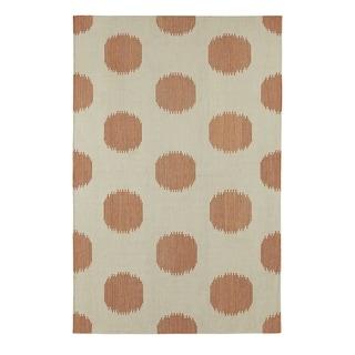 Genevieve Gorder Spots Rectangle Cinnamon Flat Woven Rug (3'x 5')