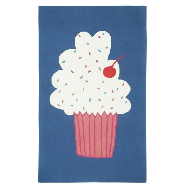 Hable Construction Cake Pops Rectangle Huckleberry Loop Hooked Rug (5'x 8')