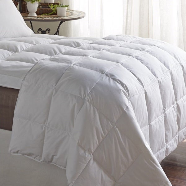 White Cotton Down Blend Queen Size Comforter (As Is Item)