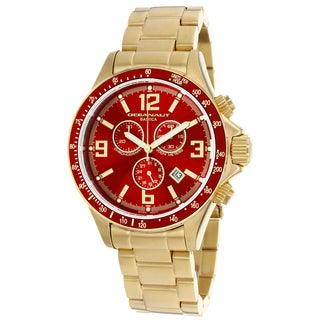 Oceanaut Men's OC3335 Baltica Round Goldtone Stainless Steel Bracelet Watch