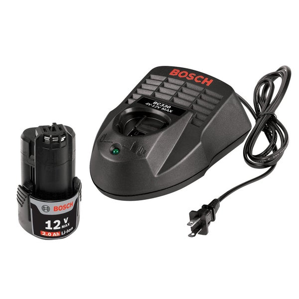 Bosch SKC120-102 12-Volt Max Starter Kit with 2.0Ah High Capacity Battery + Charger