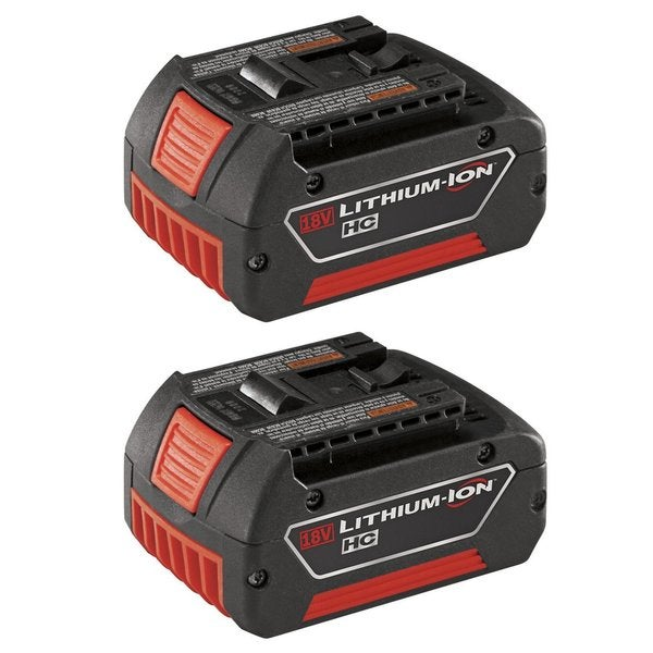 Bosch BAT619G-2P 18V Lithium-Ion HC FatPack Battery (2-Pack)