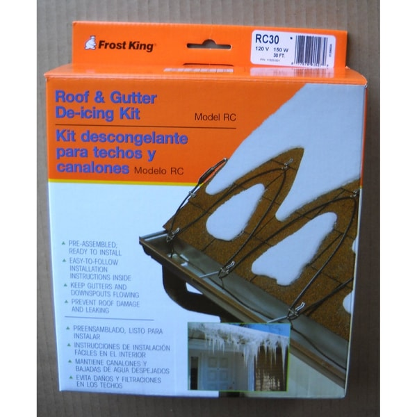 Frost King RC80 Roof & Gutter De-icing Cable Kit, 80-Feet