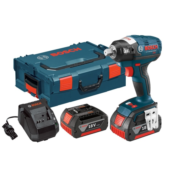 Bosch IWBH182-01L 18-Volt Brushless 0.5-Inch Pin Detent Impact Wrench with 4.0Ah Batteries, Charger + L-Boxx-2