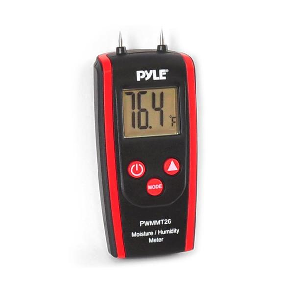 Pyle PWMMT26 Digital Moisture and Humidity Meter for Wood, Cement or Mortar
