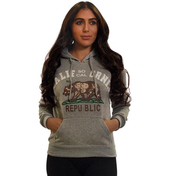 Ladies Fleece Double Hood Sweatshirt, Embellished with Appliques