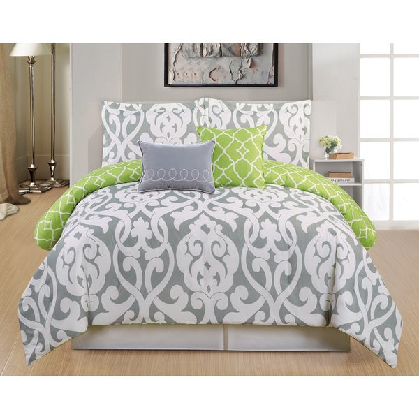 Aubry Reversible Oversized 5-piece Comforter Set