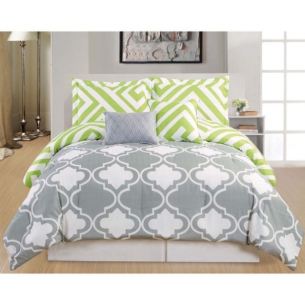 Samantha Reversible Oversized Queen Sized 5-piece Comforter Set