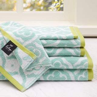 Echo Design Troy 6-Piece Cotton Jacquard Towel Set
