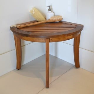 Cambridge Casual Estate Spa Teak Corner Stool