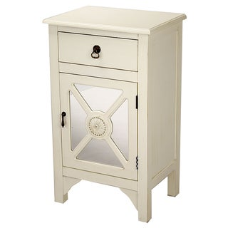 Heather Ann Single Drawer, Single Door Cabinet with Mirror Insert