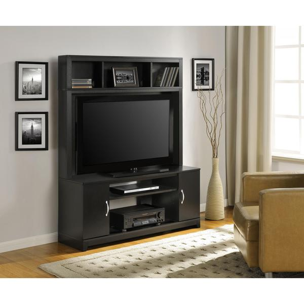 Altra Woodland Black Entertainment Console
